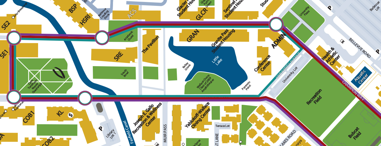 HSRI walking meeting map