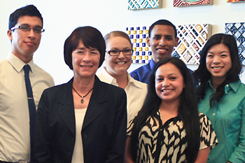 San Joaquin Valley PRIME students with Chancellor Leland