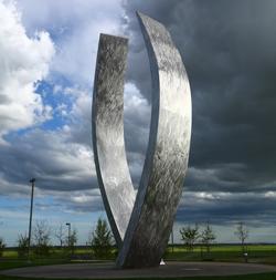 UC Merced Beginnings sculpture