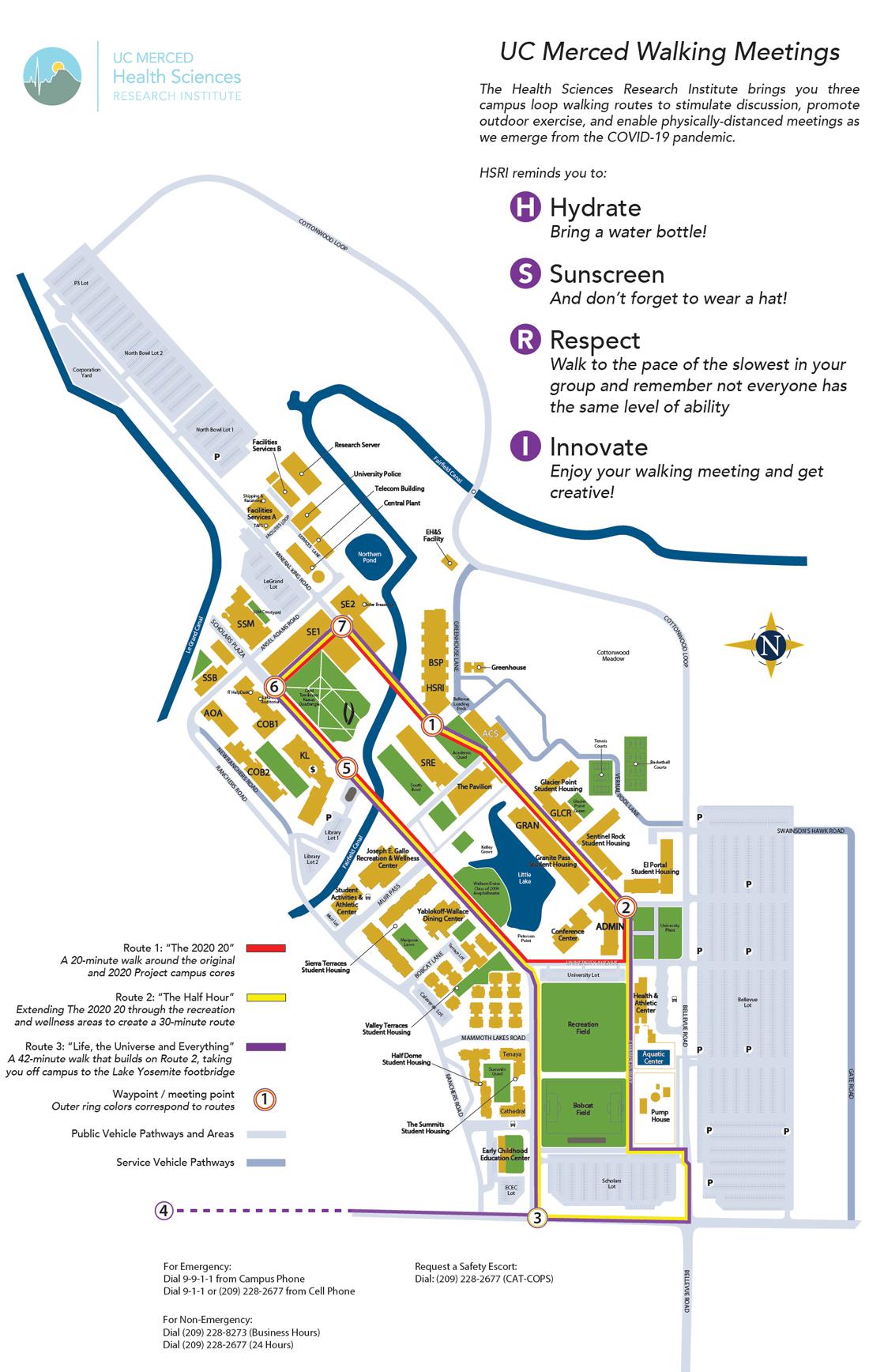 2021 HSRI campus walking map